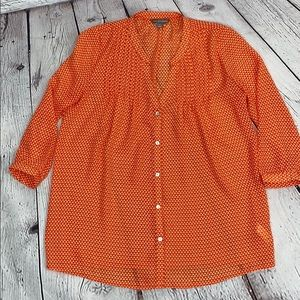 3/4 length sleeve Tinley Road blouse size xs